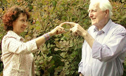 Dr. Douglas Engelbart, inventor of the mouse, and Valerie Landau
